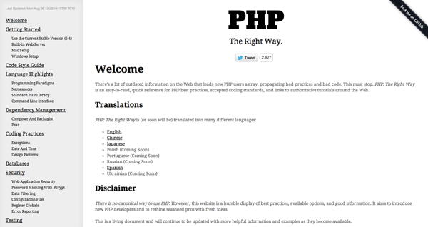 PHP The Right Way