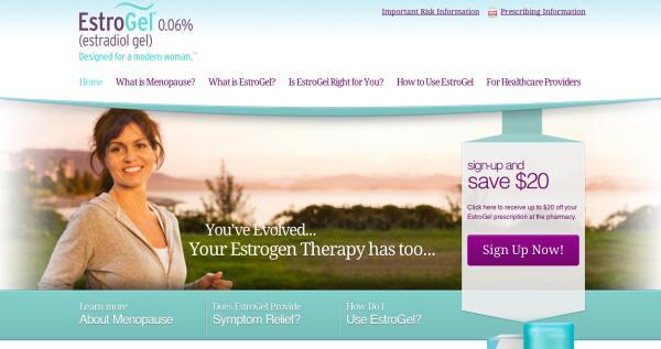 Estrogel homepage