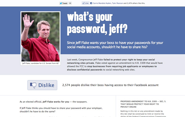 What's your password, jeff?