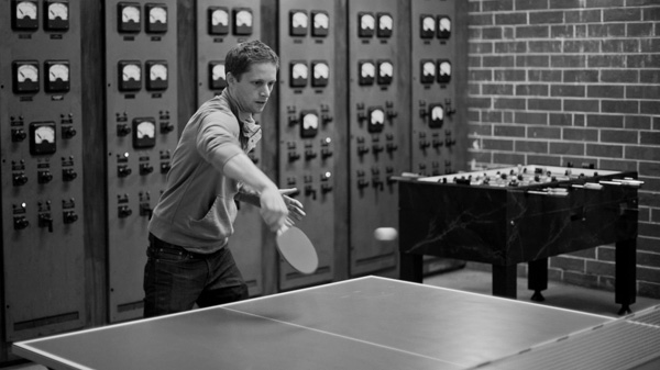 FWTF playing ping pong at Fullsteam Brewery