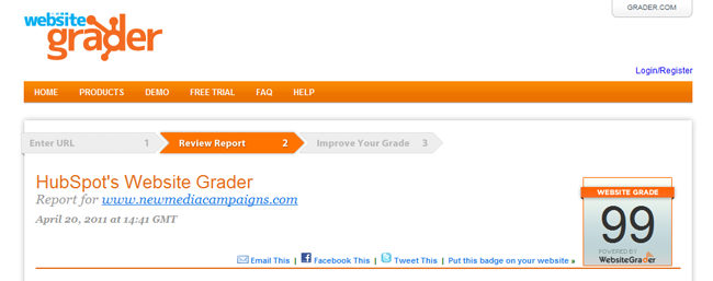 Website Grader Report