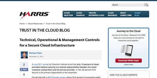 Harris blog