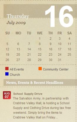 Sidebar mini calendar
