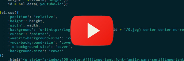 LazyYT js: A jQuery plugin to lazy load Youtube videos - New