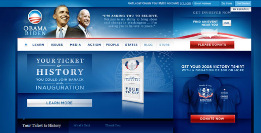 2008 Political Web Design Trends - New Media Campaigns