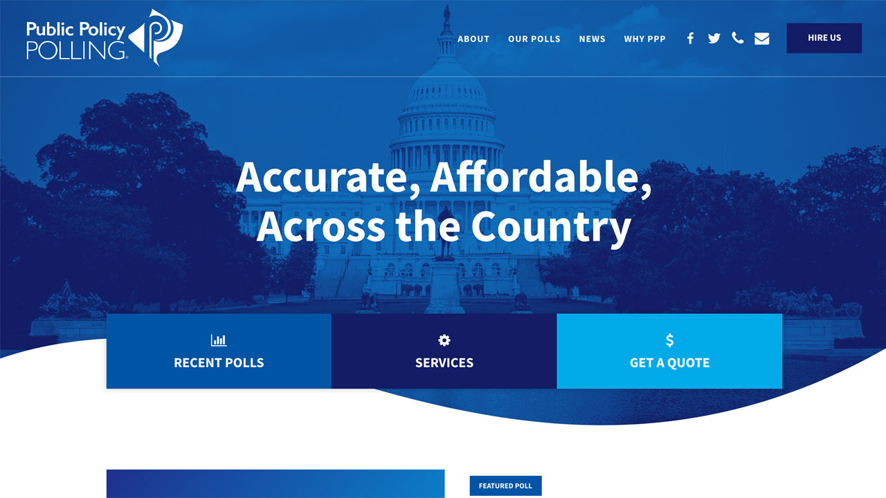 Public Policy Polling homepage