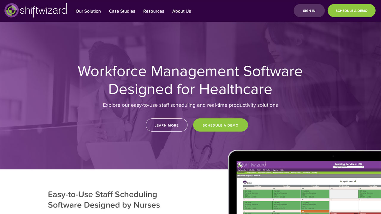 Shiftwizard Homepage