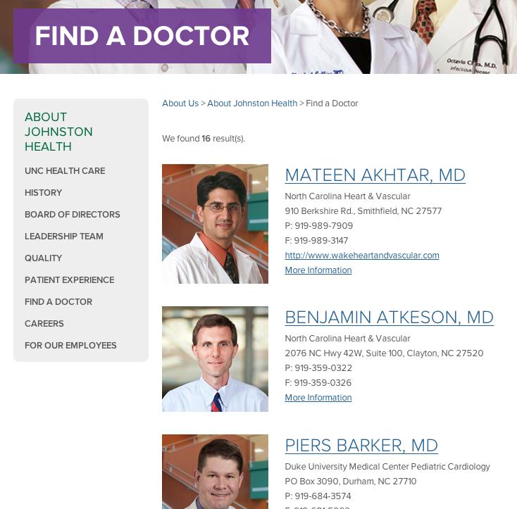 Johnston UNC Health Care - New Media Campaigns