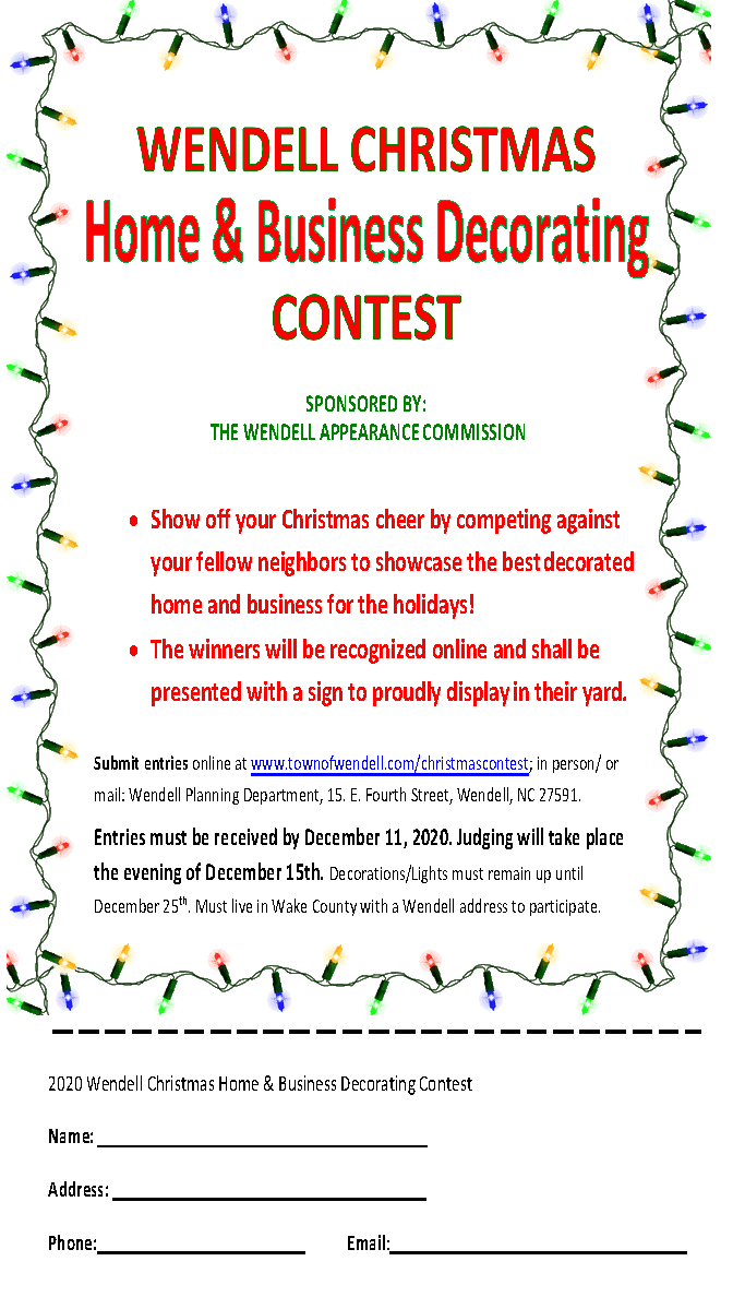 Christmas Decorating Contest