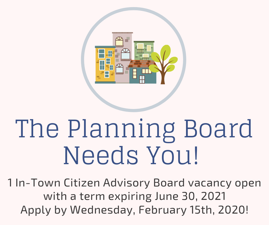 Planning Board In-Town Vacancy Deadline Feb 15