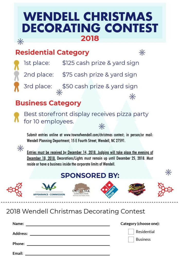 2018 Christmas Decorating Flyer