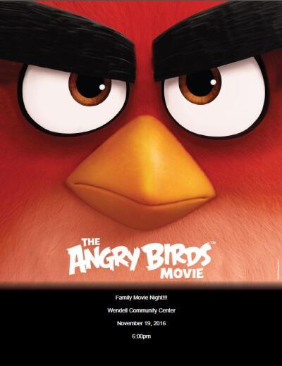 Movie Flyer - The Angry Birds Movie