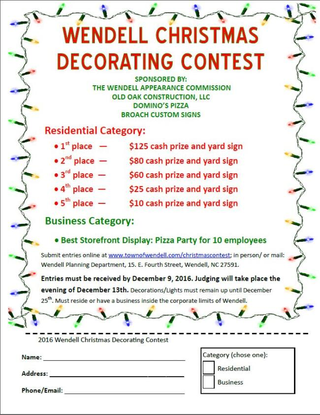 2016 Wendell Decorating Contest