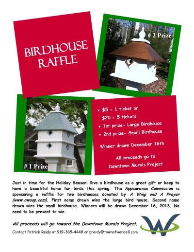 Birdhouse Raffle