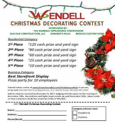 2017 Christmas Decorating Contest