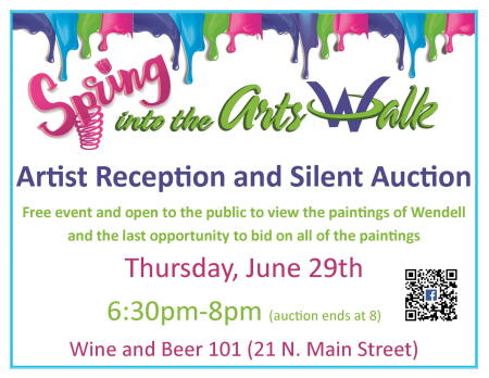 Spring Into The Arts Walk Artist Reception & Silent Auction