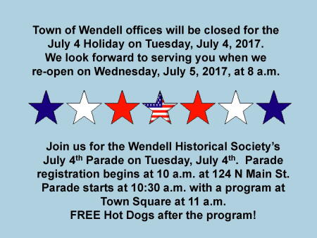 July 4, 2017 Town Hall Closing