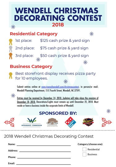 2018 Christmas Decorating Contest