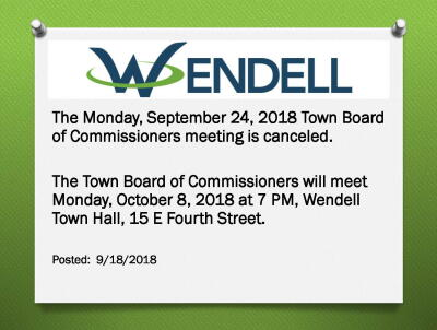 9/24 Board Meeting Canceled