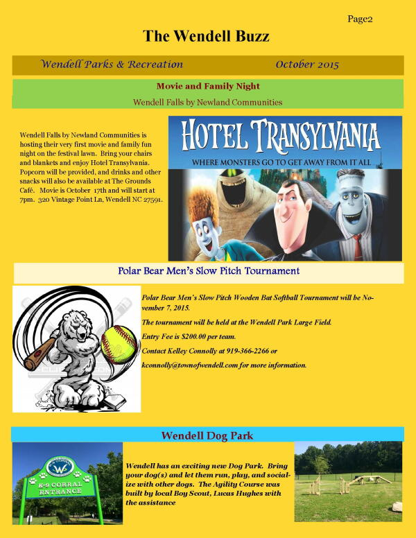 Wendell Buzz October Newsletter page 2