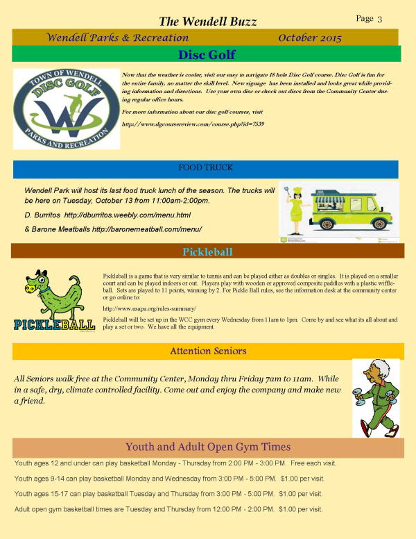 Wendell Buzz October Newsletter page 3