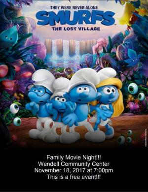 Family Movie Night - November 2017
