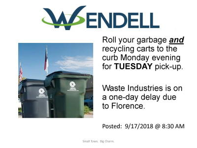 Waste Industries One-Day Delay