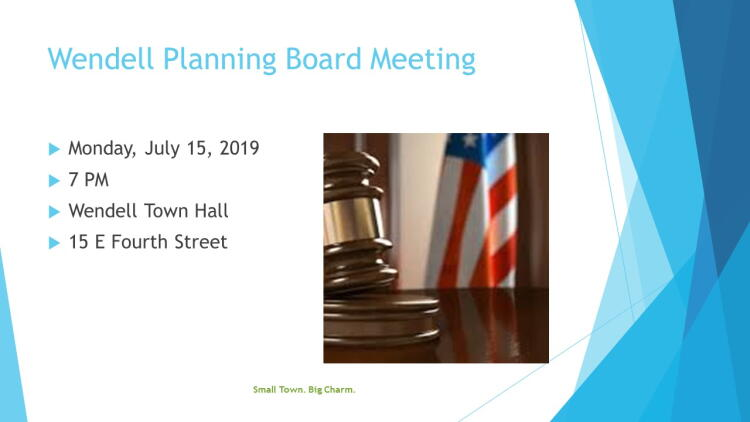 Planning Board July 2019 Meeting