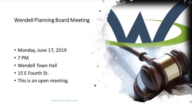 Wendell Planning Board June 2019 Meeting