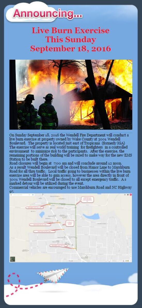 Live Burn Exercise September 18, 2016
