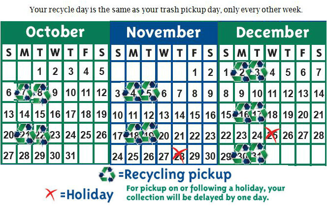 Recycle Schedule 2013