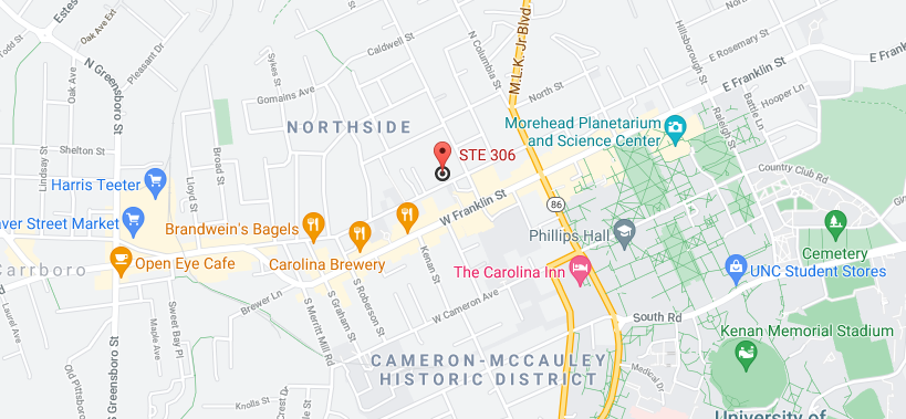 Chapel Hill, North Carolina Location Map