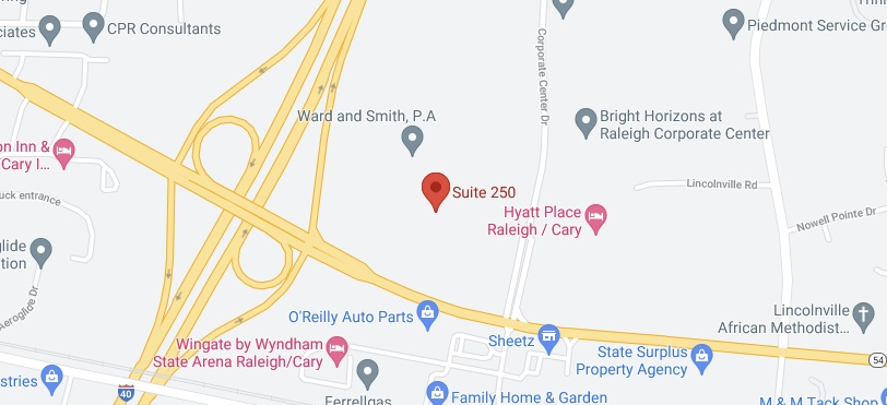 Raleigh, North Carolina Location Map