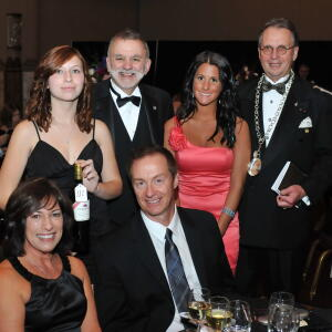 Lou  amp  Lisa Fuchs  successful bidders of the Arrowood Vineyards six year vertical