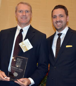 Bob Neal with Triangle Business Journal Publisher Bryan Hamilton