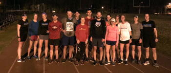 Attorney Helen Baddour and her running group