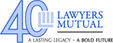 Lawyers Mutual 40th anniversary logo