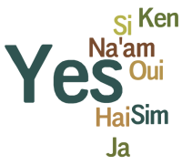 """Yes"" in different languages"