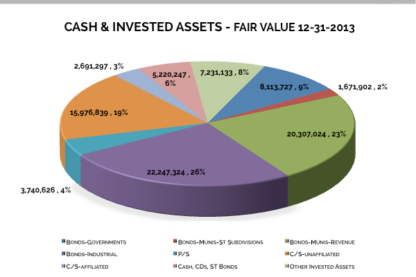 Cash & Invested Assets - 2013