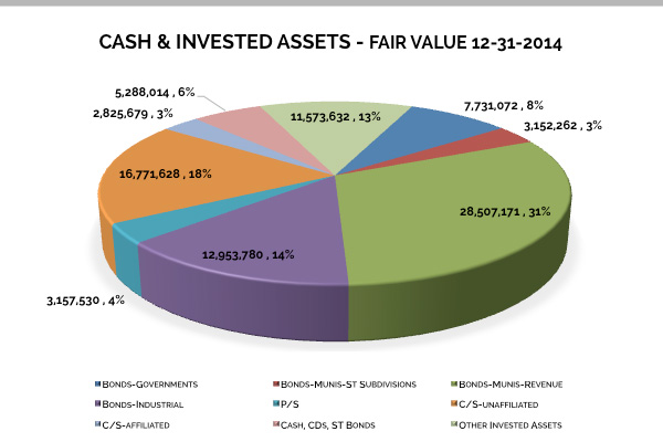 Cash & Invested Assets - 2014