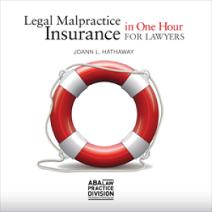 legal malpractice insurance in one hour book cover