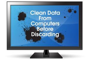 Clean data before disposing computer