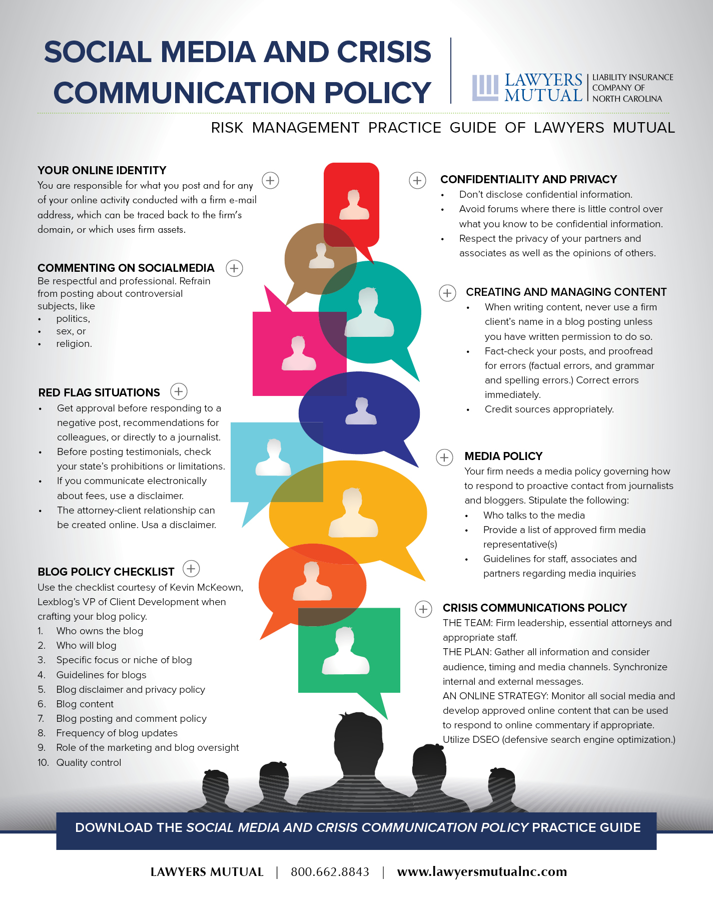 infographic for social media and crisis communication policy