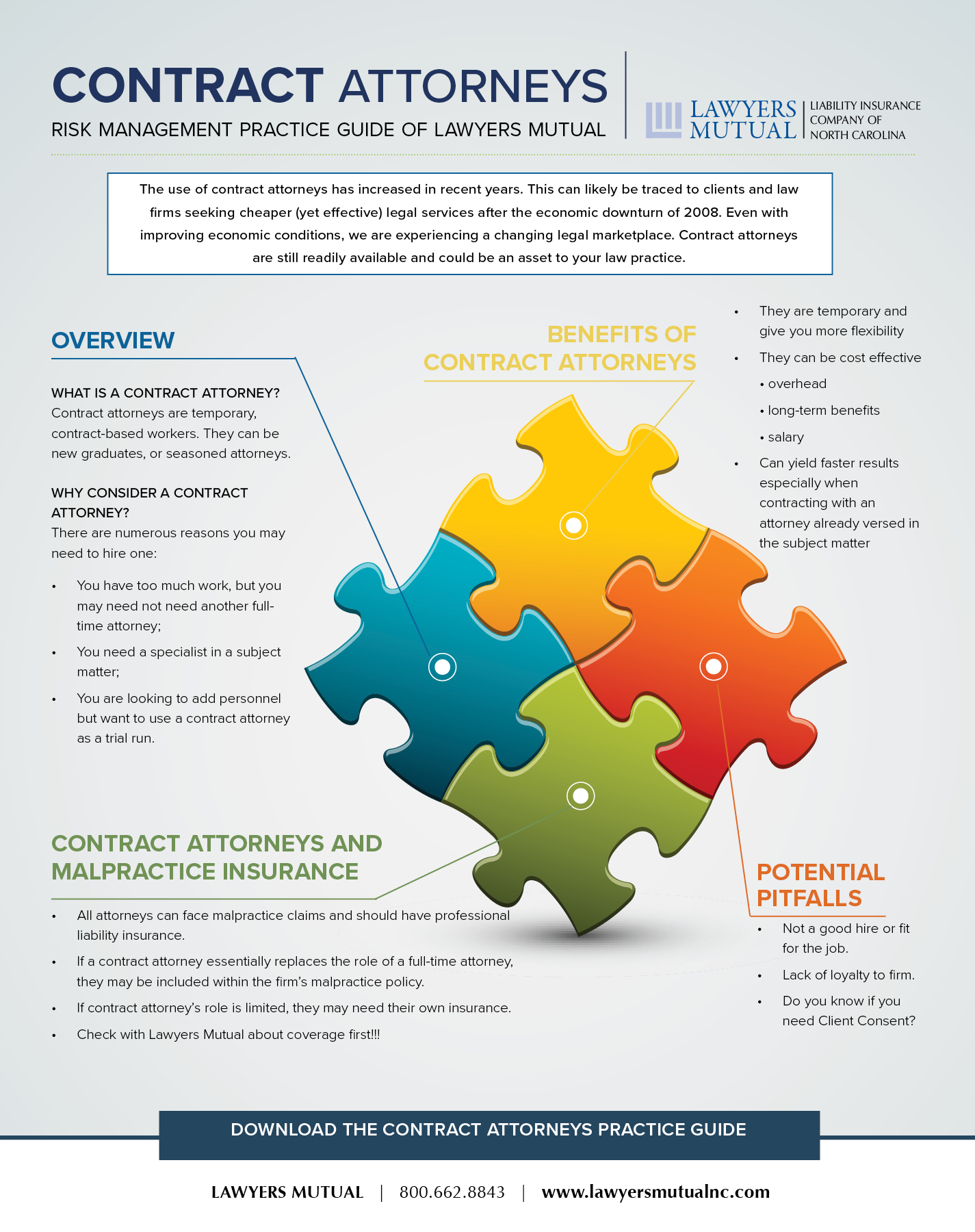 infographic highlighting pros and cons of contract attorneys