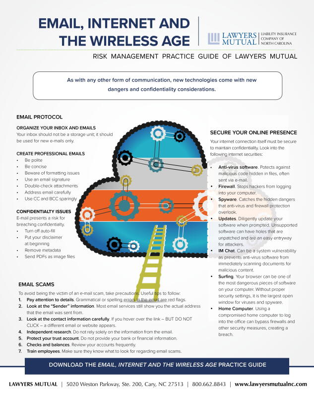 Infographic for email, internet, and the wireless age practice guide