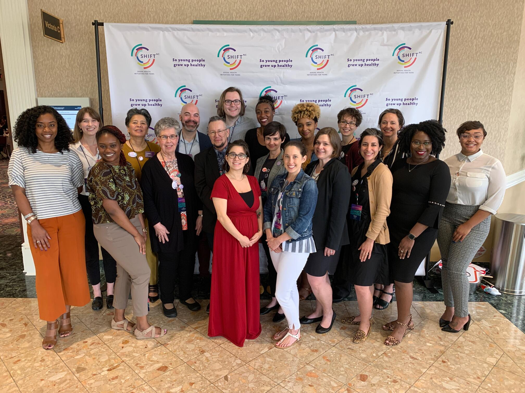 Group photo of shift nc staff from the 2019 annual conference on adolescent sexual health