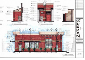 Zaxby's architectural rendering