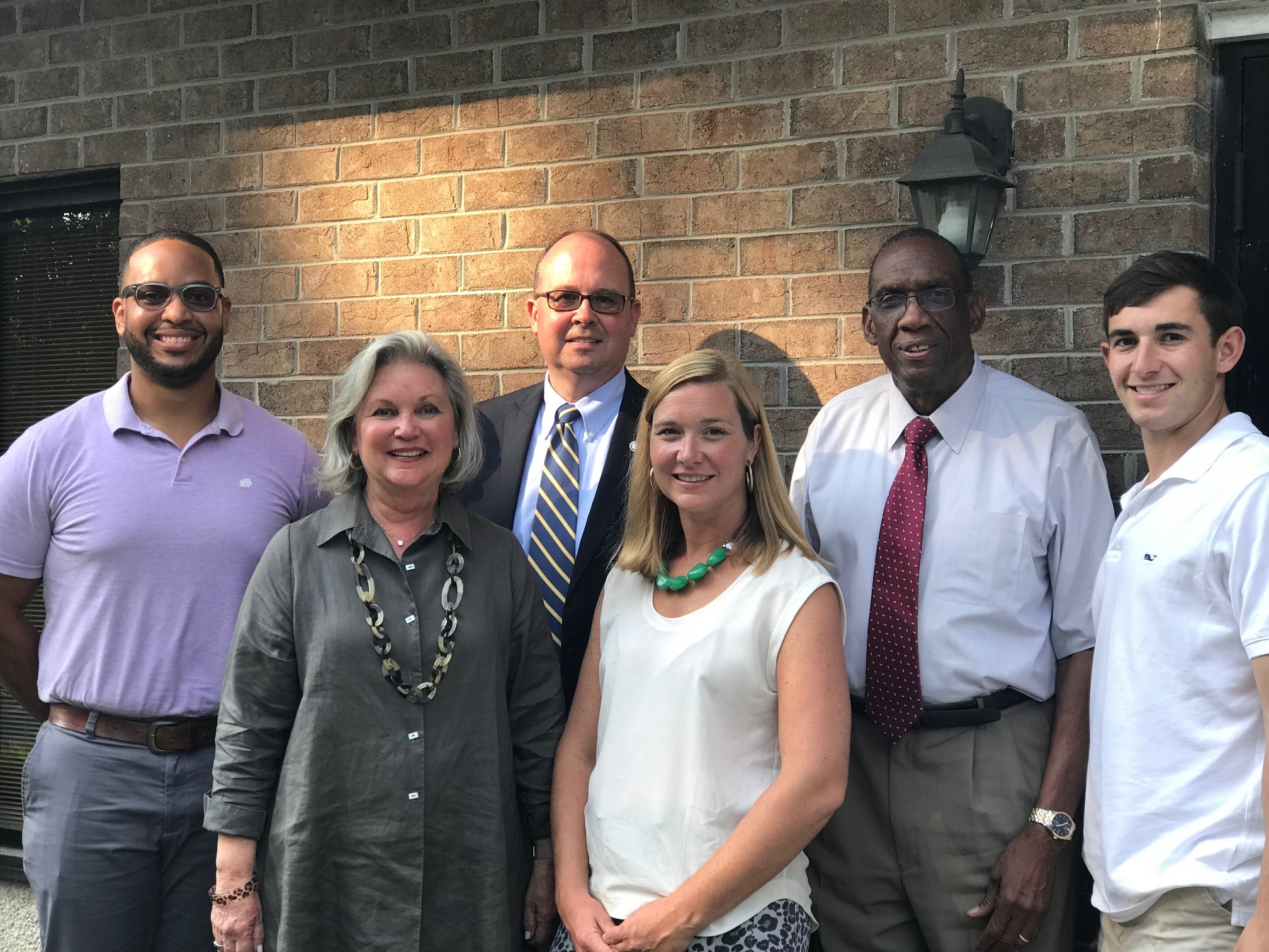 Pictured (left to right) are members of the Bertie-Hertford Community Foundation board of advisors: Guy Holley, Penny Rose, John Tayloe, Lindsay Vaughan, Daniel Smith and Jordan Harrell.
