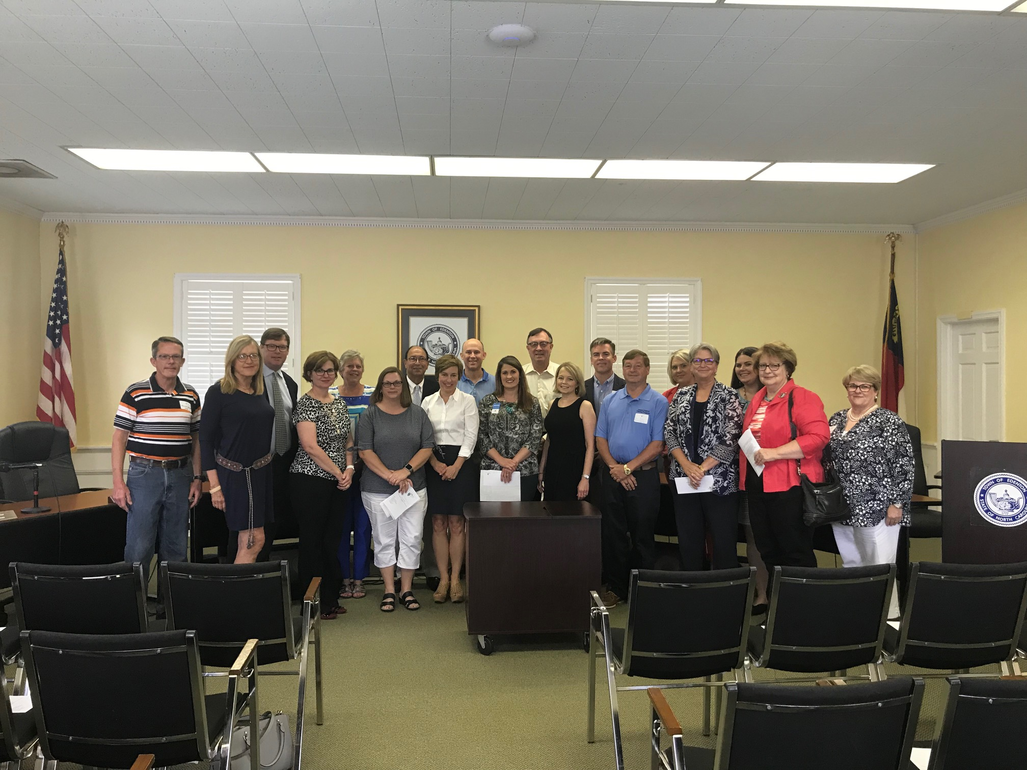 Pictured are Chowan Community Funds Foundation board members and representatives from nonprofit grant award winners at the annual grants ceremony.