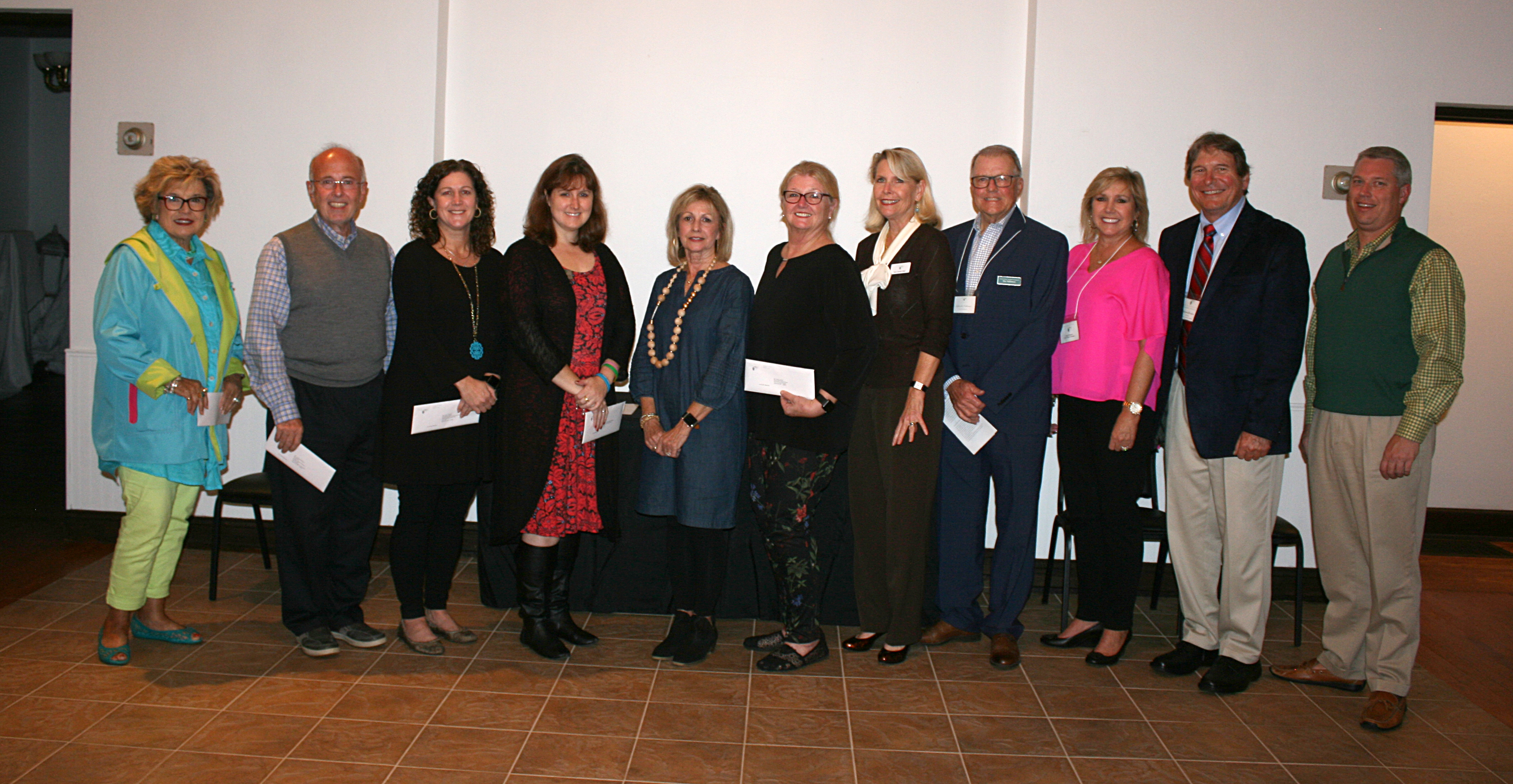 Pictured awarding local grants are (left to right): Dianne Andrews, Interfaith Volunteers; George Mewborn, Greene County Museum, Holly Aycock, Special Olympics North Carolina; Jennifer Smith, Girl Scouts of the N.C. Coastal Plain; Kathy Dail, Greene County Schools Health Services; Pat Adams, Greene County Board of Education; Kim Ball, NCCF; Ray Holloman, GCCF vice president; Susan Beaman, GCCF grants committee chairwoman; Michael Rhodes, GCCF president Jody Tyson, GCCF board member. Photo courtesy of the Standard Laconic.
